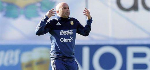 Ya con Messi, Sampaoli paró el posible equipo para enfrentar a Perú
