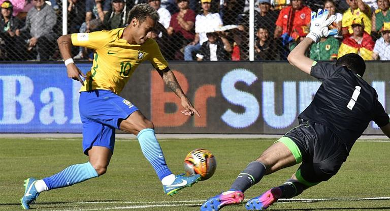 La eliminada Bolivia empató con un Brasil ya clasificado al Mundial de Rusia 2018