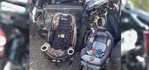 """La terrible foto que publicó una mamá: """"Pongan a sus hijos en las sillitas"""""""