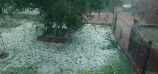 Fuerte temporal de lluvia y granizo afectó a San Vicente y Dos de Mayo