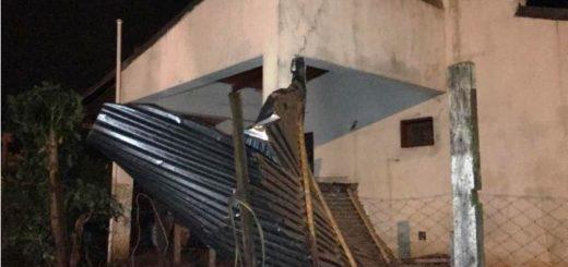 Temporal en Posadas: anoche hubo vientos de hasta 92 kilómetros por hora