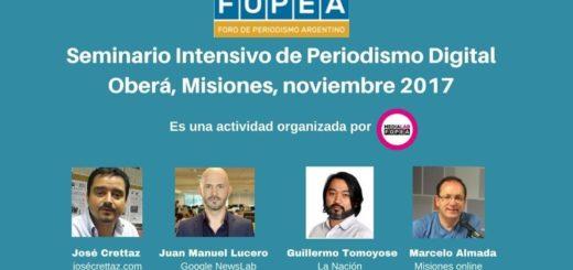 FOPEA realizará un seminario de periodismo digital en Oberá, con la participación de Google y Misiones Online