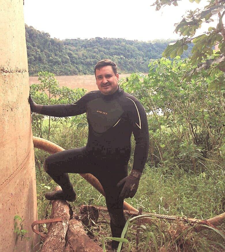 Emocionado, Jorge el papá de Federico Staudt, el buzo misionero que se sumó a la búsqueda del submarino, contó sobre la experiencia de su hijo