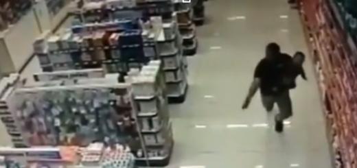 Momentos de terror: Un policía de civil mató a dos ladrones con su bebé en brazos