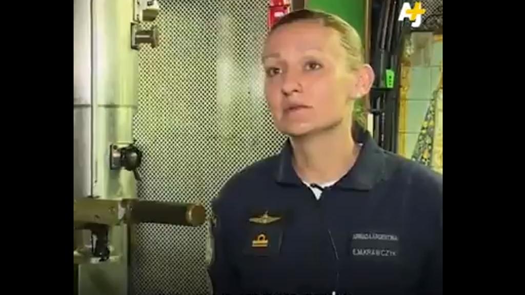 """""""La reina de los mares"""", la submarinista misionera dentro del ARA San Juan"""