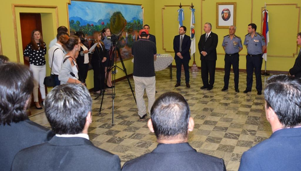 Passalacqua distinguió a los policías que actuaron en el histórico golpe al narcotráfico en Montecarlo