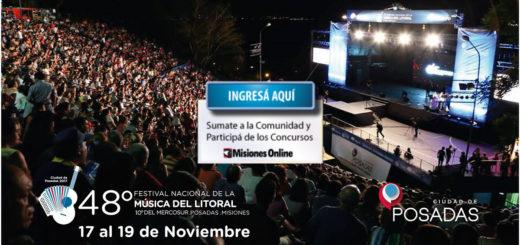 Comunidad Misiones Online: Hasta el mediodía participá del concurso por entradas para el Festival Nacional de la Música del Litoral
