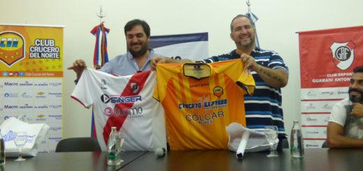 #ElDeporteNosUne: junto al Ministerio de Deportes, Crucero y Guaraní presentaron el clásico de este miércoles