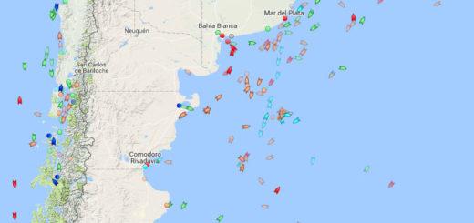 Mapa online: así está, minuto a minuto, la zona de búsqueda del ARA San Juan