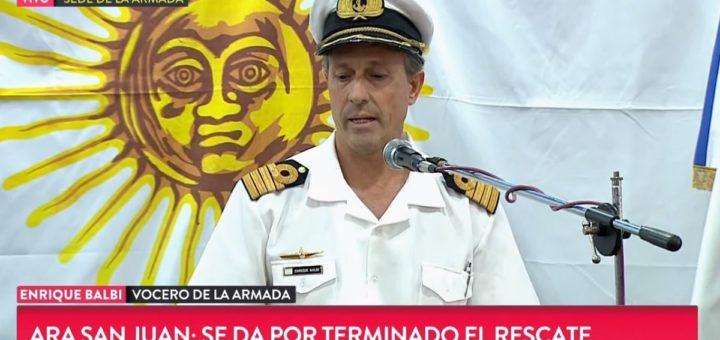 """ARA San Juan: """"Se da por terminado el rescate, no habrá salvamento de personas"""""""