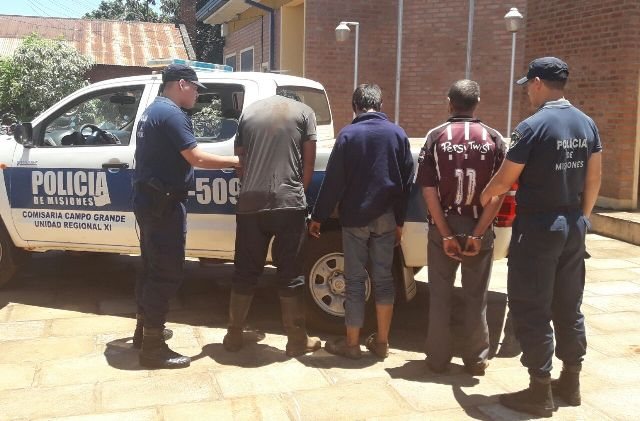 Campo Grande: tres detenidos por irrumpir armados y a los tiros en un terreno para apear madera nativa