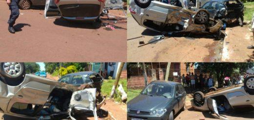 Chocó y volcó un auto que una clienta se lo había dejado para lavar