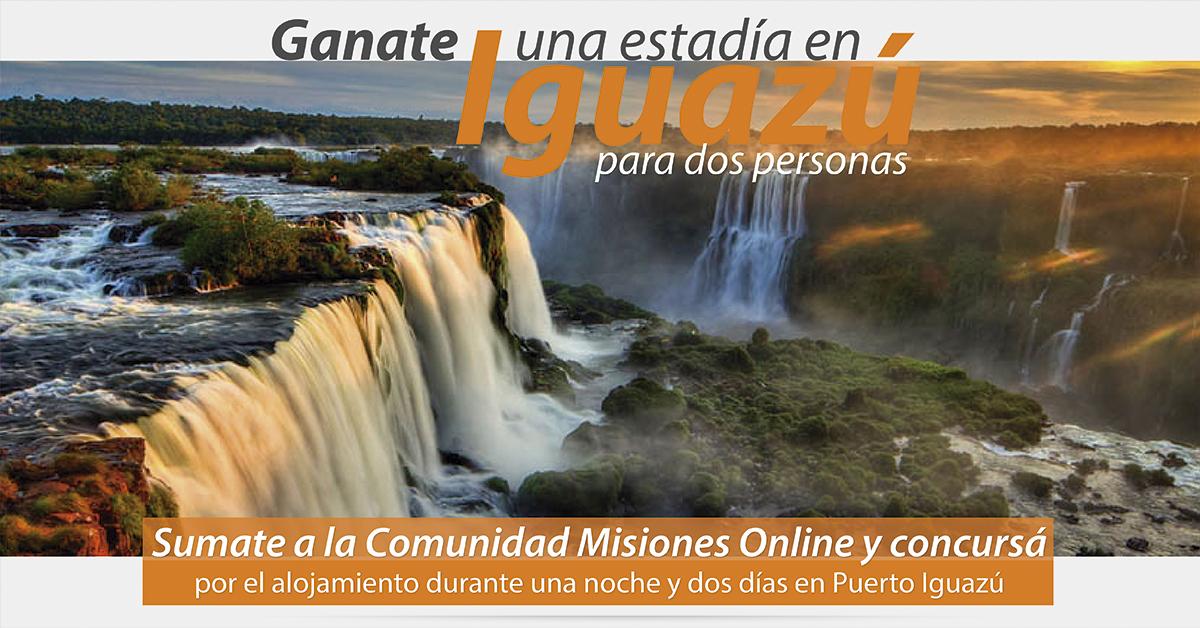Ganate una estadía en Iguazú, para dos personas: Sumate a la Comunidad Misiones Online y participá del concurso