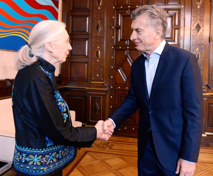 El presidente Macri recibió a la reconocida ambientalista y conservacionista Jane Goodall