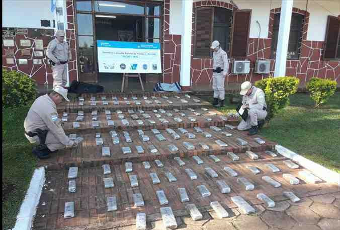 Prefectura decomisó más de 100 kilos de marihuana en Iguazú