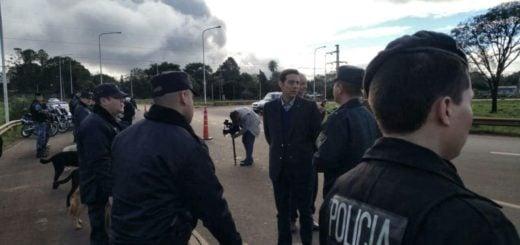 El ministro de Gobierno dispuso más efectivos policiales para las UR de Eldorado y San Vicente