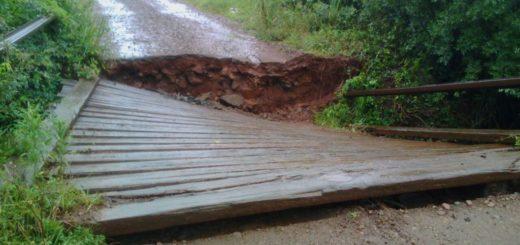 Cayó un puente en la zona rural de San José