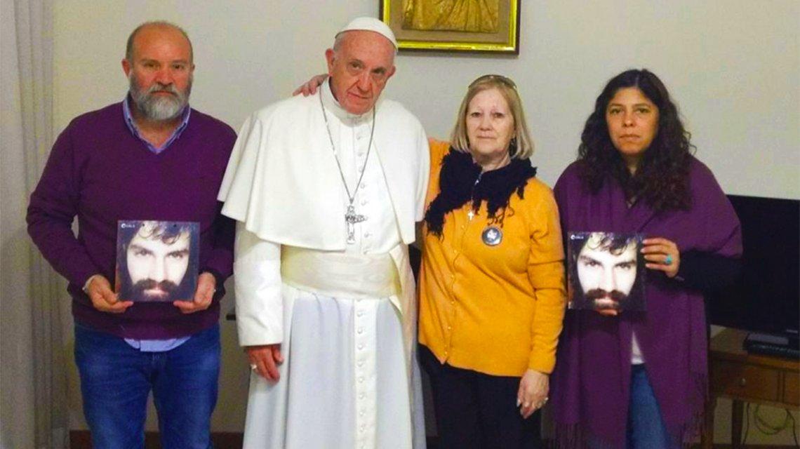 Francisco recibió a la familia de Santiago Maldonado en el Vaticano