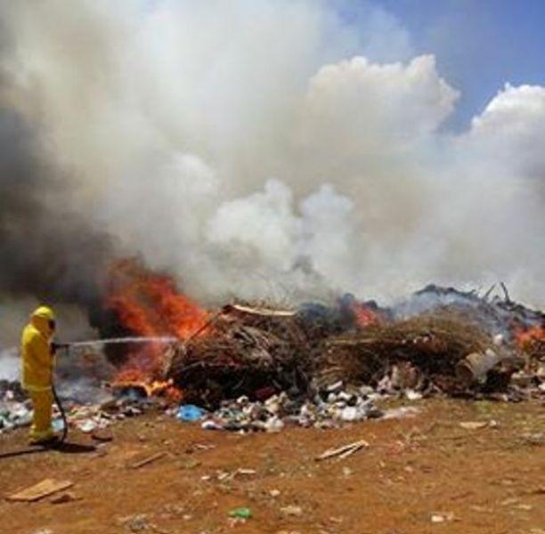 Se incendió predio con maleza cerca del Autódromo de Posadas