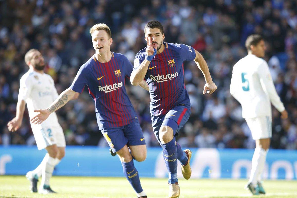 Con goles de Suárez y Messi, el Barcelona se impone sobre el Madrid en la despedida del año