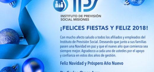 El IPS saludó a sus empleados y afiliados por la Navidad