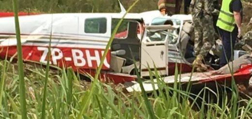 Funcionario paraguayo murió tras estrellar su avioneta tras despegar del aeropuerto deEncarnación