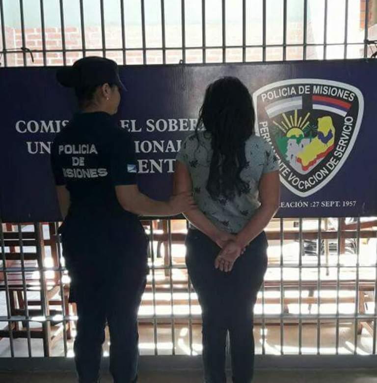 Arrestaron a una mujer por herir con un cuchillo a su concubino en El Soberbio