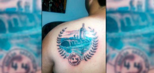 Un joven se tatuó el ARA San Juan en homenaje a los 44 tripulantes