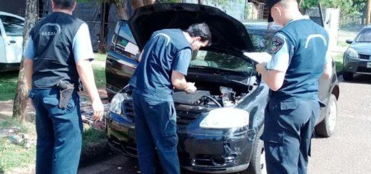 Encontraron abandonado en Posadas un auto robado en La Plata