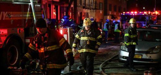 Tragedia en Nueva York: un incendio dejó al menos doce muertos y cuatro heridos graves