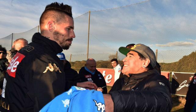 Marek Hamsik le sacó un récord a Diego Maradona en el Nápoli