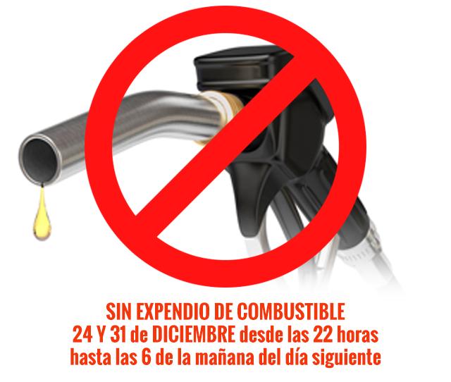 Recuerdan que  no habrá expendio de combustibles la noche del 24 y 31 de diciembre