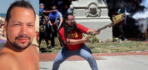 """Pidieron la detención del dirigente del FIT que usó un arma """"tumbera"""" durante los incidentes por la Reforma Previsional"""