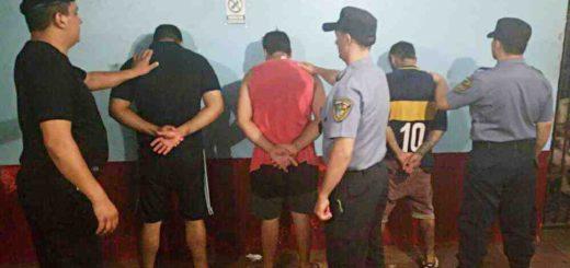 Luego de un asalto en Iguazú detienen a tres sospechosos, con armas y droga