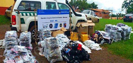 Decomisaron contrabando por un millón de pesos en el Norte provincial