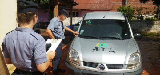 En San Javier secuestraron un utilitario robado en Buenos Aires