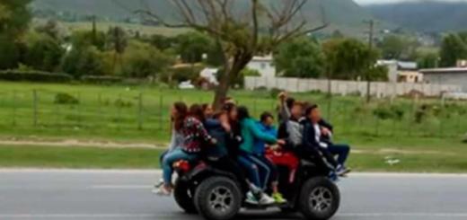 Imprudencia en las rutas: diez menores viajaron sobre un cuatriciclo en Tucumán