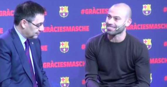 La emoción de Mascherano en el homenaje del Barcelona en su despedida: «El sueño se terminó»