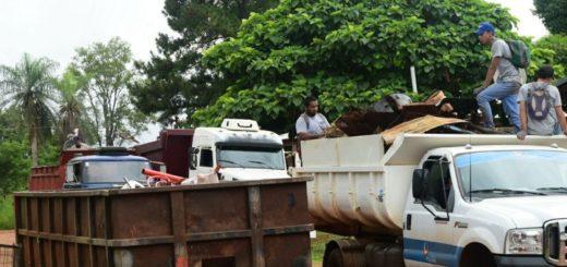 Dengue: la Municipalidad retiró más 760 toneladas de residuos no domiciliarios en Posadas.