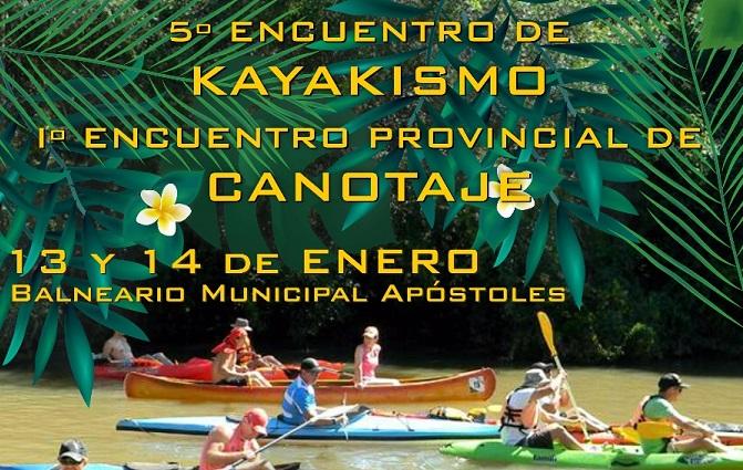 Se viene el primer evento de canotaje del 2018 en Apóstoles