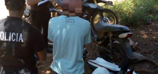 Cayó jovencito en pleno desarme de una moto robada en Oberá