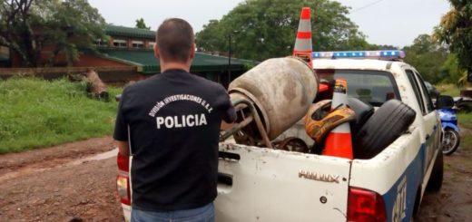 Allanaron aguantadero de elementos robados y hubo cinco detenidos en Posadas
