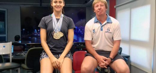 """Luego de un 2017 consagratorio, la nadadora Astrid Olmedo se prepara para dar el salto a las Mayores """"a nivel internacional"""""""