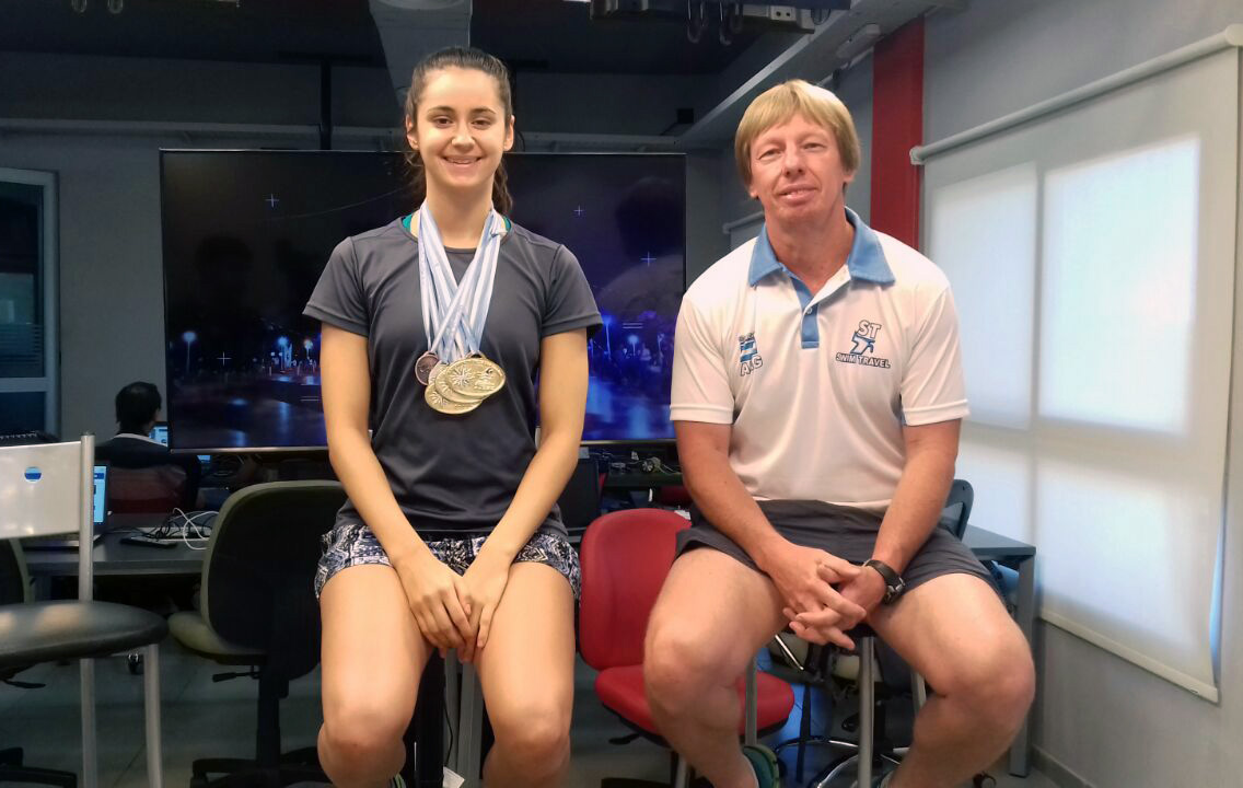 Luego de un 2017 consagratorio, la nadadora Astrid Olmedo se prepara para dar el salto a las Mayores «a nivel internacional»