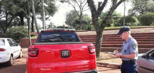Ubican en San Vicente una camioneta robada en Brasil y que estaban acondicionando para el tráfico ilegal