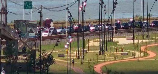 VIVO: así esta la fila de autos para cruzar a Encarnación