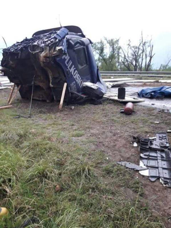 Camión misionero chocó y volcó en Entre Ríos