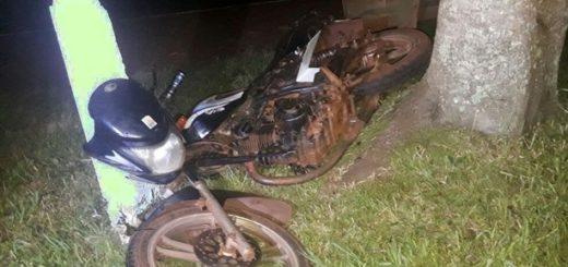 Motociclista de Apóstoles perdió la vida en el acto en un accidente ocurrido en la ruta 201