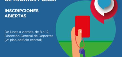 Están abiertas las inscripciones de la Escuela Municipal de Árbitros Fútbol