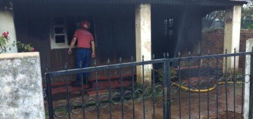 Incendio causó daños totales en una vivienda de Posadas